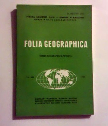 Folia geographica. Series geographica - physica. Vol. XIII. (1980)