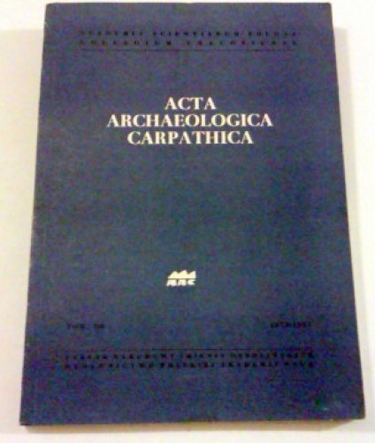 Acta archaeologica carpathica. T.XIII.