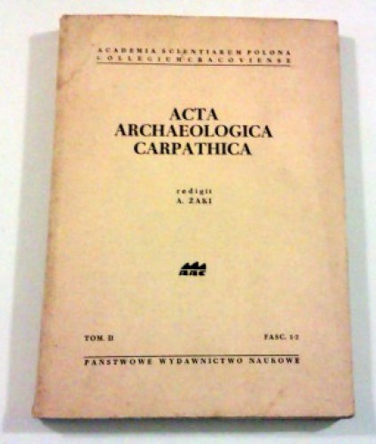 Acta archaeologica carpathica. T.II, z.1-2.