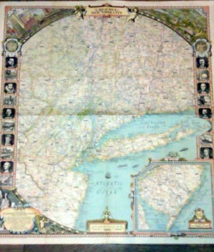 The Reaches of New York City - mapa (National Geographic Society)