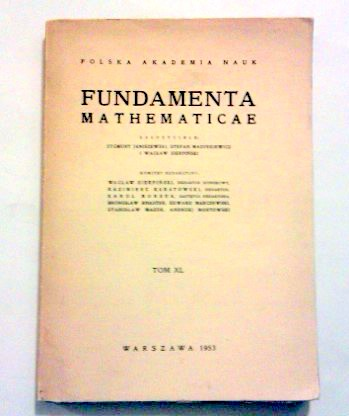 Fundamenta mathematicae.