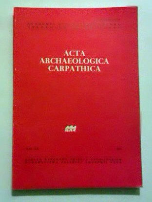 Acta archaeologica carpathica. T.XX.