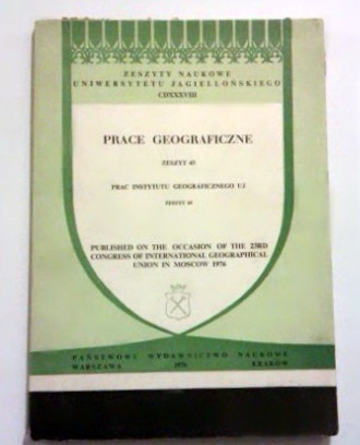 Studies on phisical and economic geography published on the occasion of the 23rd Congress of International Geographical Union in Moscow 1976 z. 43.