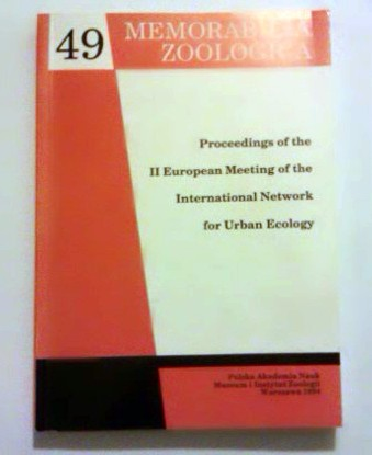 Proceedings of the II European Meeting of the International Network for Urban Ecology.
