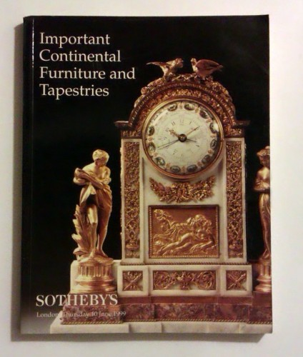 Important Continental Furniture and Tapestries. (Katalog aukcyjny) Sotheby's London 10.VI.1999