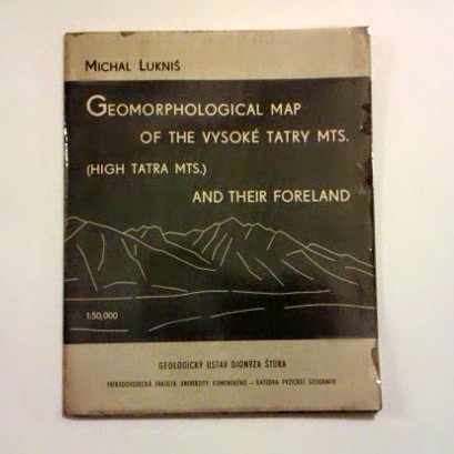 Lukniš Michal: Geomorphological map of the Vysoké Tatry Mts. (High Tatra Mts.) and their foreland.