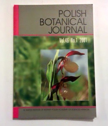 Polish Botanical Journal. Vol. 46. No 1, 2001.